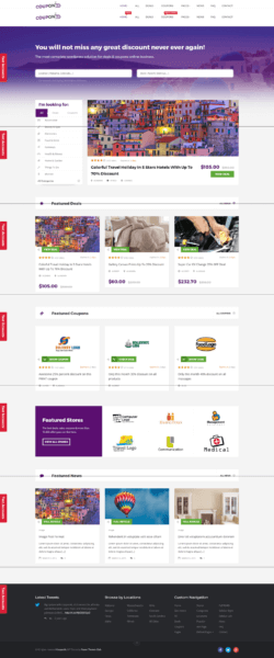 couponXL Free WordPress theme for coupon website