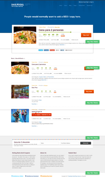 daily deal coupon wordpress theme free download