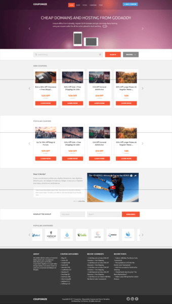 couponize theme Free WordPress theme for coupon website