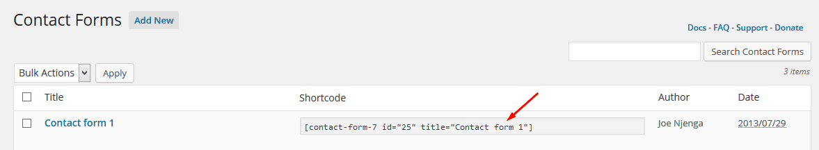 Contact-Form-Shortcode