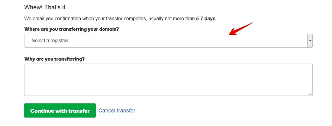 Domain-Transfer-Godaddy