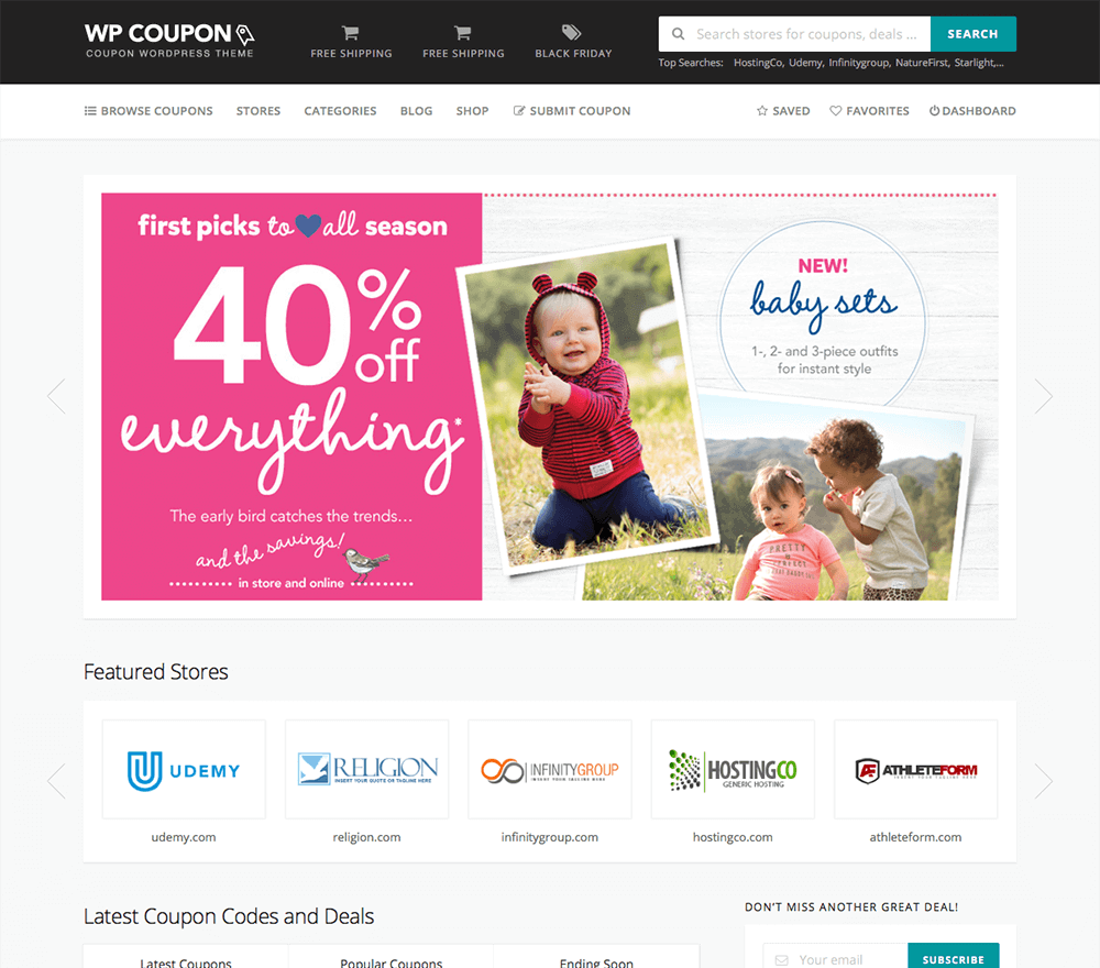 wpcoupon coupon website template free download