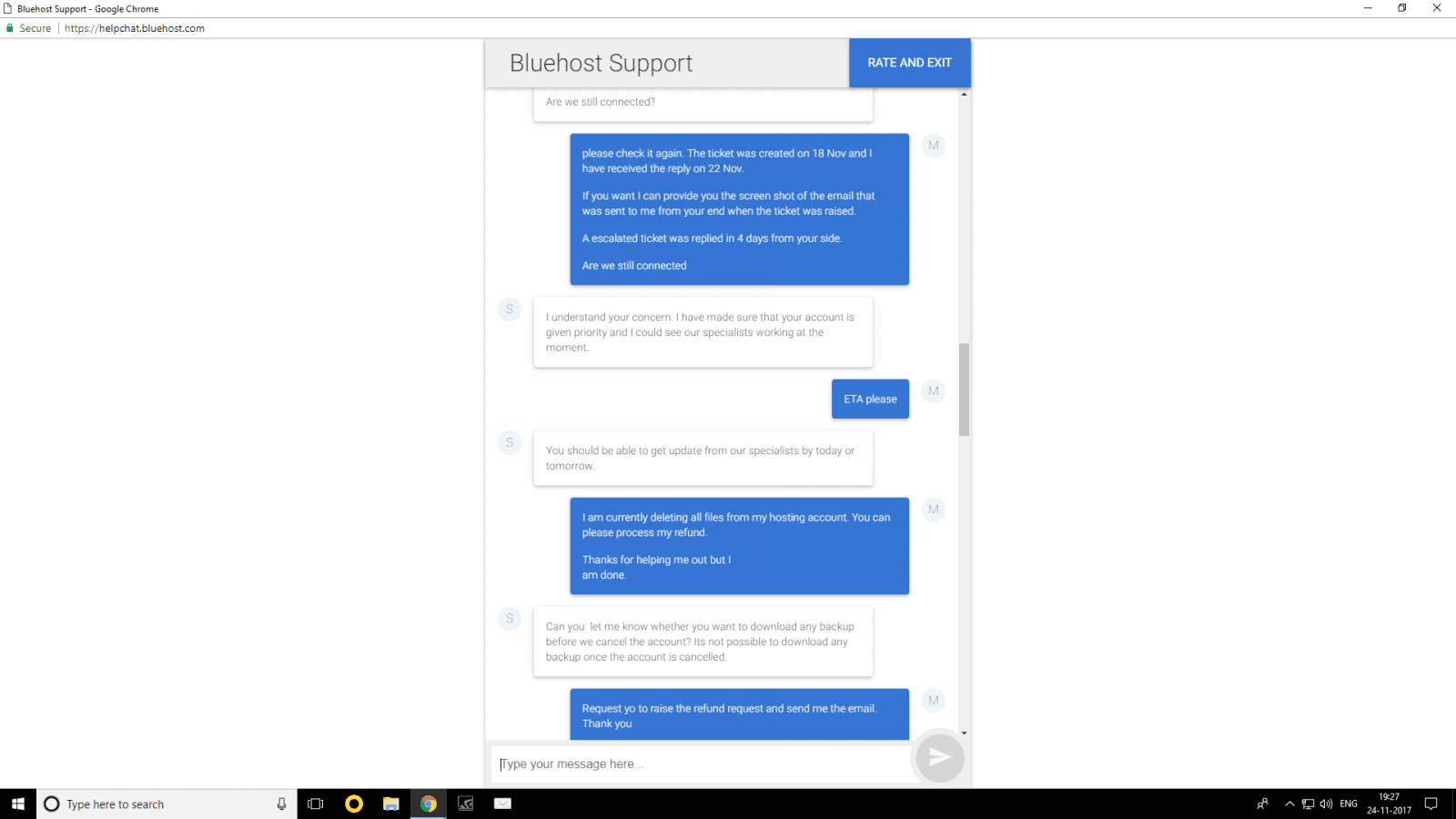 Bluehost Customer Service Reviews 10