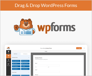 wpforms homepage banner