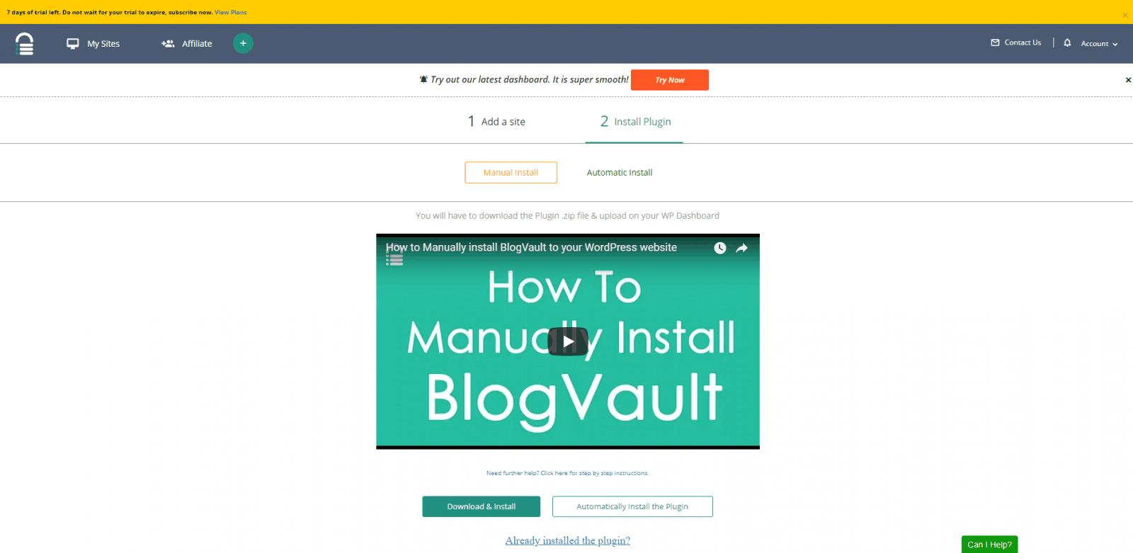 blogvault review install plugin