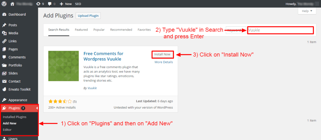 vuukle-review-wordpress-installation-1