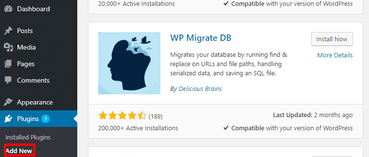 bloggersutra wp migrate DB wordpress plugin