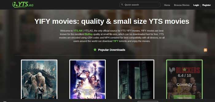 YTS-homepage
