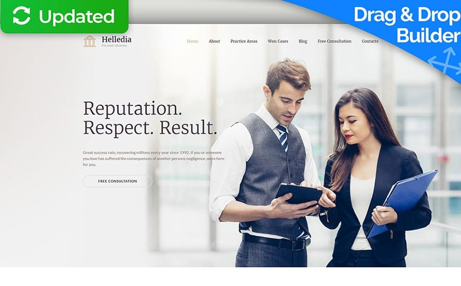 Helledia - Law Firm Services Moto CMS 3 Template