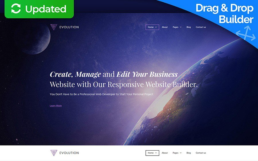 Evolution - Business MotoCMS Template