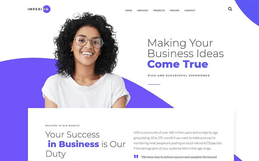 Imperion - Business Marketing WordPress Theme
