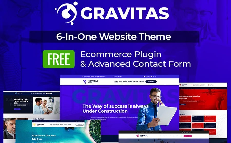 Gravitas - Multipurpose Business Moto CMS 3 Template