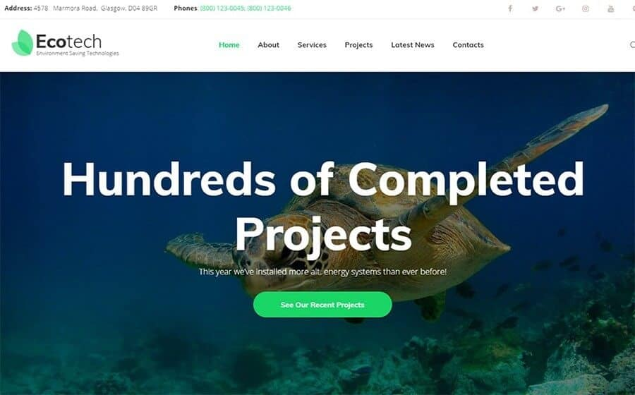 ecotech wordpres template
