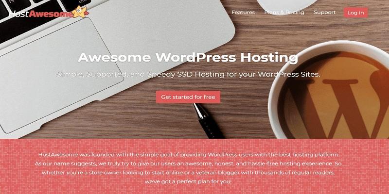 hostawesome-free-wordpress-hosting