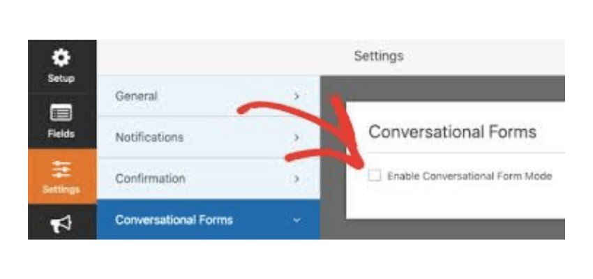 enable conversational form mode