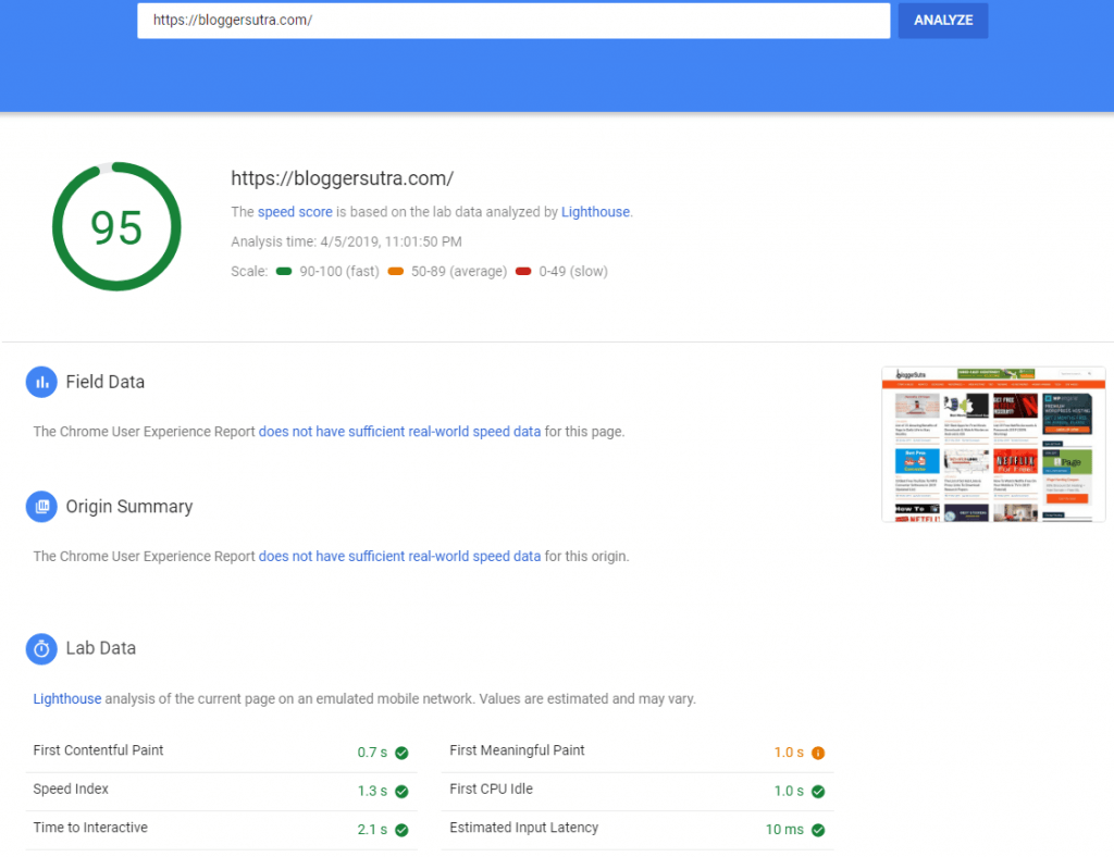 google-pagespeed-score-desktop