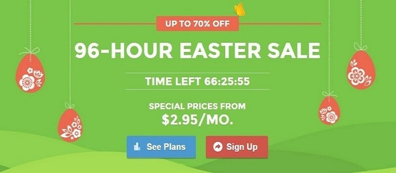 SiteGround Easter Sale