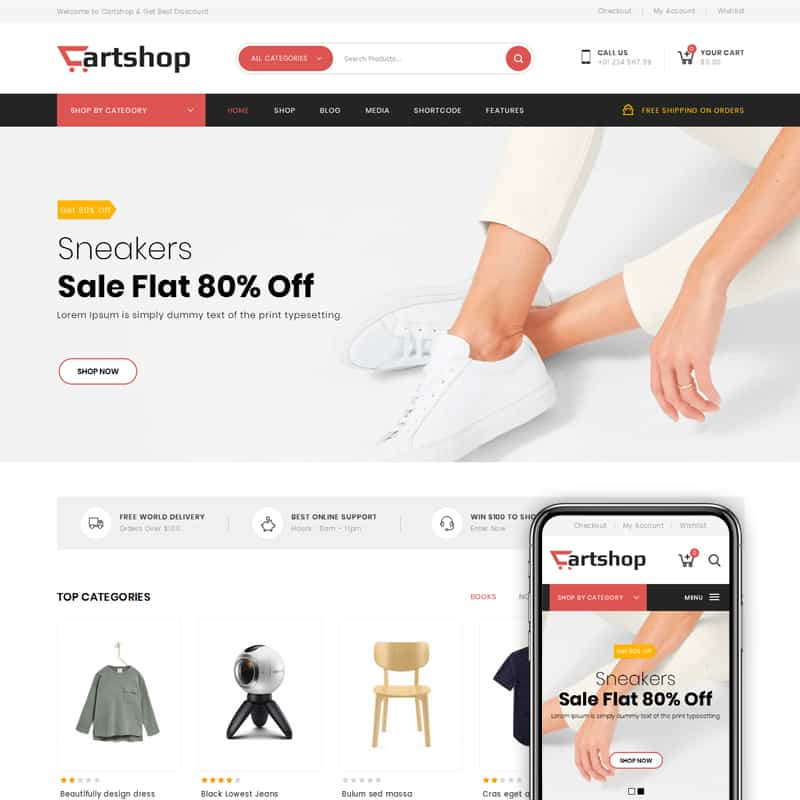 cartshop fashion template