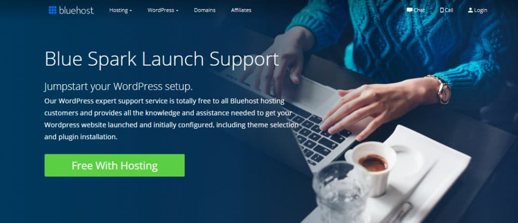 blue-spark-support-bluehost