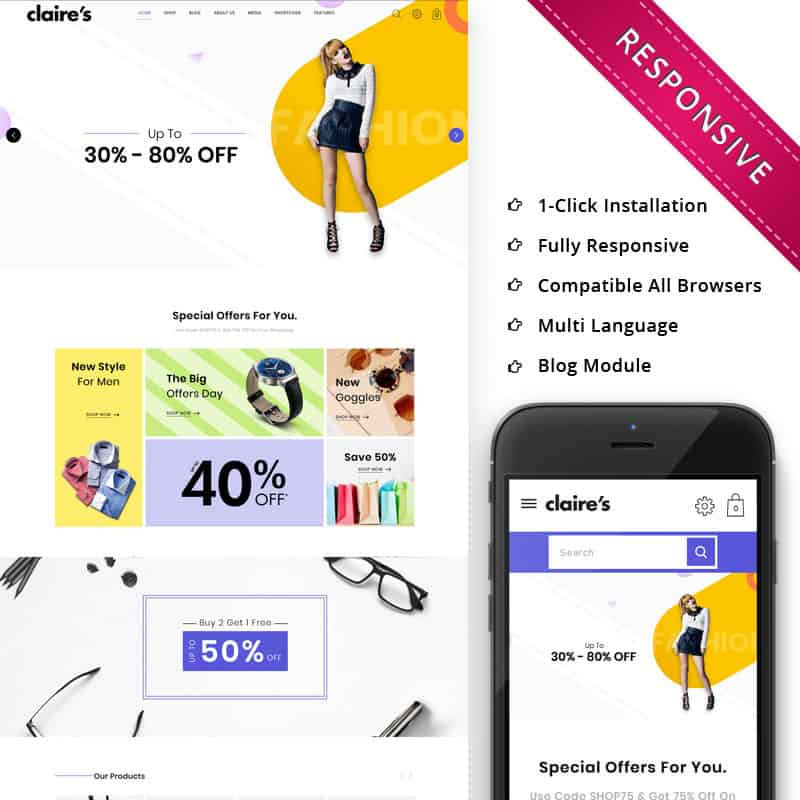 claires fashion template