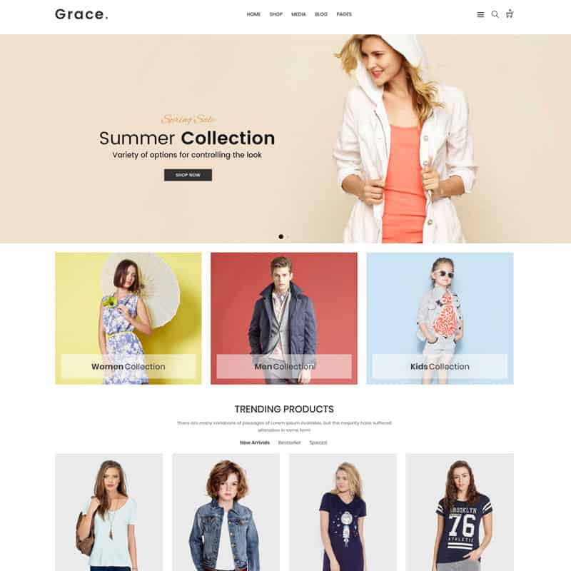grace fashion template