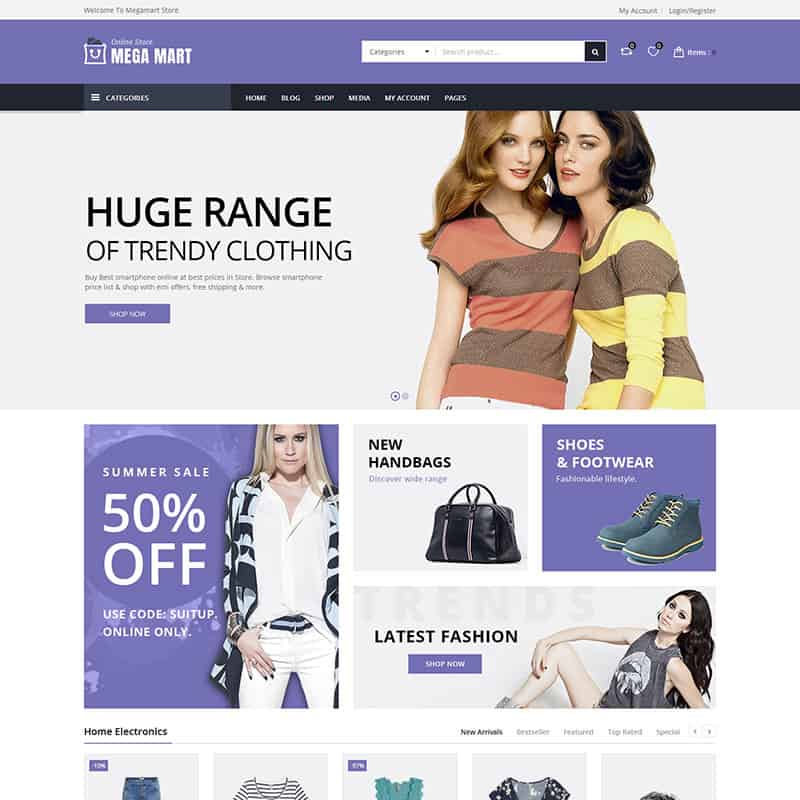 mega mart fashion template