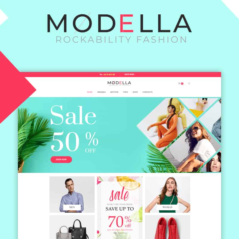 modella fashion template