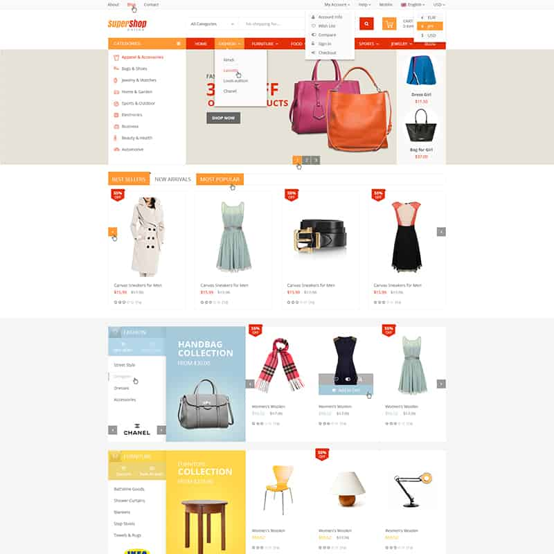 supershop fashion template