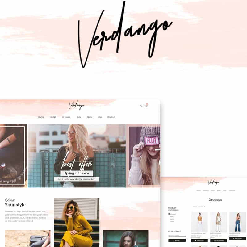 verdango fashion template