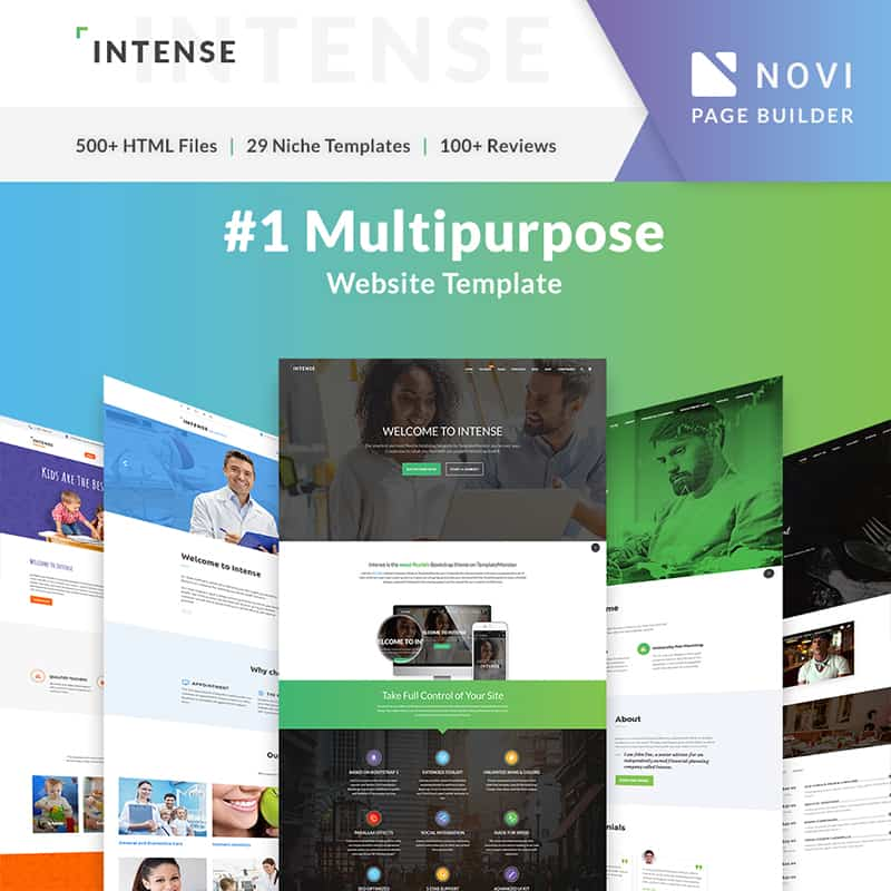 INTENSE Photographer Portfolio Website Template