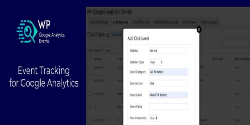 WP Google Analytics Events