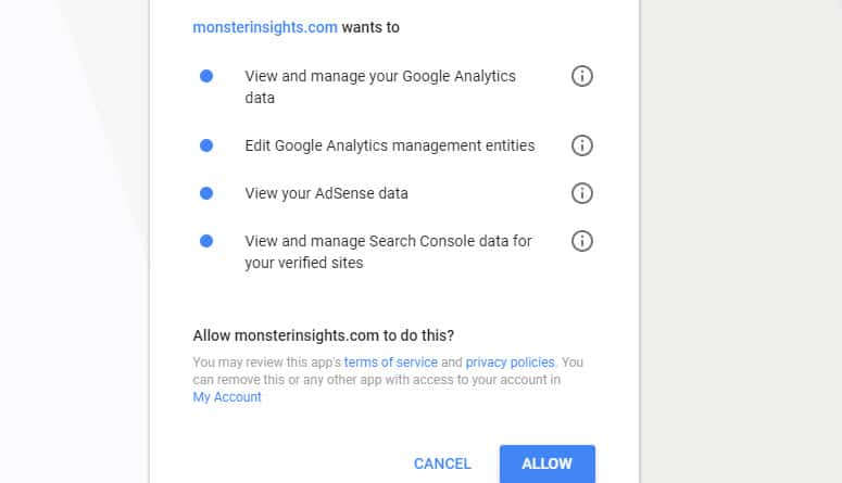 allow-monsterinsights-to-manage-analytics