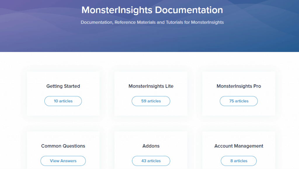 monsterinsights documentation