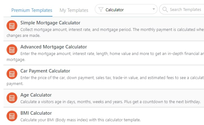 wordpress-calculator-templates