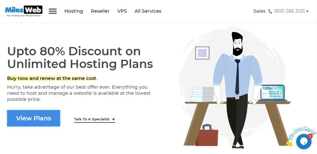 1 dollar hosting milesweb