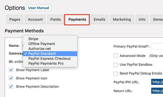 membership payment