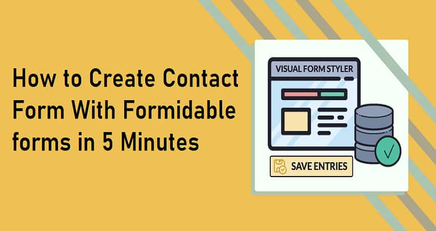 how to create contact form with formidable forms