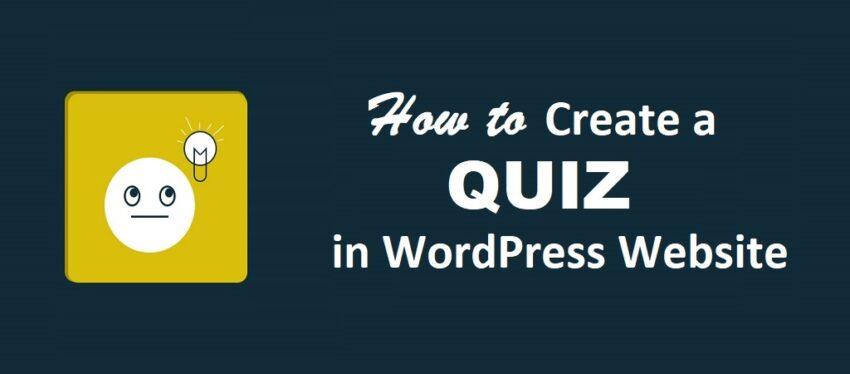 Create a Quiz in WordPress Website