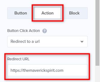 change button action url optinmonster