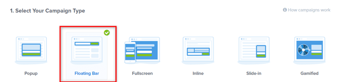 choose-floating-bar-campaign-type-optinmonster