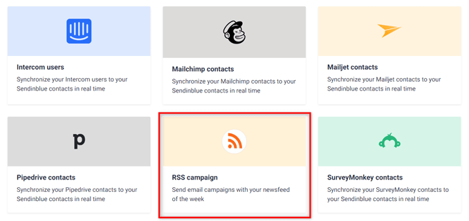 select-rss-campaign-from-integrations-tab-sendinblue