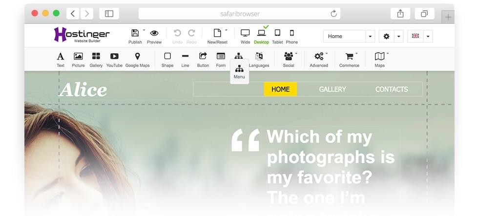 hostinger-website-builder-customize-pages